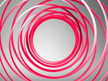 Abstract 3d spiral background. Red abstract 3d spiral background Royalty Free Stock Photography