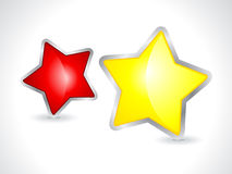 Abstract 3d star icon. Vector illustration Royalty Free Stock Photo