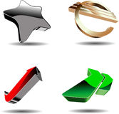 Abstract 3D symbols. Vector illustration Royalty Free Stock Photography