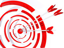 Abstract 3D a target. For shooting from bow Stock Image