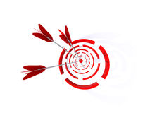 Abstract 3D a target. For shooting from bow Royalty Free Stock Images