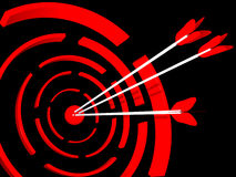 Abstract 3D a target. For shooting from bow Stock Photos