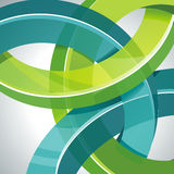 Abstract 3d technology circles Stock Photo