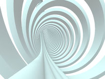 Abstract 3d tunnel background Stock Image