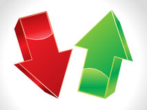 Abstract 3d up and down arrows. Vector illustration Royalty Free Stock Photography