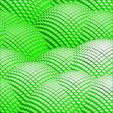 Abstract 3d vector background green mountains. Creates from cubes stock illustration