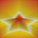 Abstract 3d vector background star. Create from cubes Stock Photography