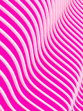 Abstract 3d waves background. 3d abstract pink waves background. Rendered image Royalty Free Illustration