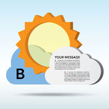 Abstract 3D weather speech bubble. Abstract 3D weather speech bubble background.EPS10 royalty free illustration