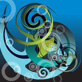 Abstract. Artistic design sign with spirals Stock Photos