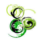 Abstract. Artistic design sign with spirals Royalty Free Stock Photo