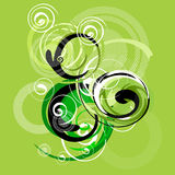 Abstract. Artistic design sign with spirals Stock Image