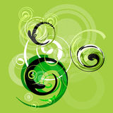 Abstract. Artistic design sign with spirals vector illustration