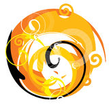 Abstract. Artistic design sign with spirals royalty free illustration