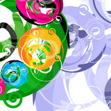 Abstract. Artistic design sign with spirals Royalty Free Stock Images