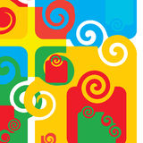 Abstract. Artistic design sign with spirals Royalty Free Stock Photography