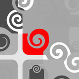 Abstract. Artistic design sign with spirals Stock Photo