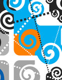 Abstract. Artistic design sign with spirals Royalty Free Stock Photos