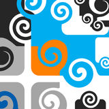 Abstract. Artistic design sign with spirals Stock Images