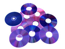 Abstract. DVDs on the white background Royalty Free Stock Photos