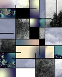 Abstract. Mondrian like Abstract with earth elements and fractals Royalty Free Stock Photography