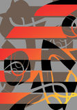 Abstract. Pattern for an ornament of a congratulatory card Stock Photos