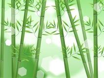 Abstract aardbamboe stock illustratie