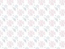 Abstract Aardpatroon met installaties roze toon op witte achtergrond, bloemen Stock Foto