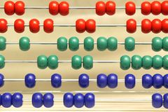 Abstract Abacus. With Red Green Blue Color Royalty Free Stock Photo