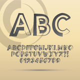 Abstract ABC Font and Numbers. Eps 10 Vector Editable royalty free illustration