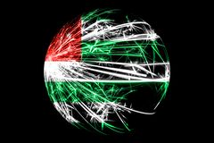 Abstract Abkhazia sparkling flag, Christmas ball concept isolated on black background.  vector illustration