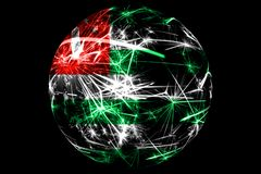 Abstract Abkhazia sparkling flag, Christmas holiday ball concept isolated on black background. Abstract Abkhazia sparkling flag, Christmas ball holiday concept royalty free illustration