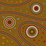 Abstract Aboriginal Art. Illustration of abstract aboriginal dot art Royalty Free Illustration