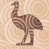 Abstract Aboriginal Art. Abstract Aboriginal kangaroo dot painting in vector format Stock Images