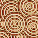 Abstract Aboriginal Art. Abstract Aboriginal dot painting in vector format Royalty Free Stock Photo