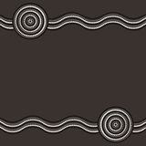 Abstract Aboriginal line painting. Australian Aboriginal art background in  format Stock Illustration