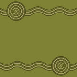 Abstract Aboriginal line painting. Australian Aboriginal art background in  format Royalty Free Stock Images