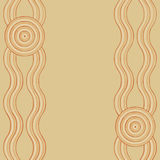 Abstract Aboriginal line painting. Australian Aboriginal art background in  format Stock Photos
