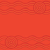 Abstract Aboriginal line painting. Australian Aboriginal art background in  format Royalty Free Stock Photos
