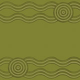 Abstract Aboriginal line painting. Australian Aboriginal art background in  format Stock Images