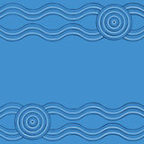 Abstract Aboriginal line painting Stock Images