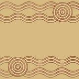 Abstract Aboriginal line painting. Australian Aboriginal art background in vector format Royalty Free Illustration