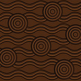 Abstract Aboriginal line painting. Abstract Aboriginal dot painting in  format Stock Photo