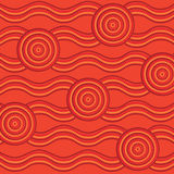 Abstract Aboriginal line painting Royalty Free Stock Photos