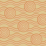 Abstract Aboriginal line painting. Abstract Aboriginal dot painting in format stock illustration