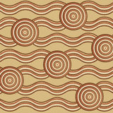 Abstract Aboriginal line painting Royalty Free Stock Images