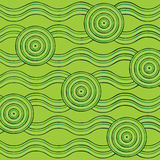 Abstract Aboriginal line painting Royalty Free Stock Photo