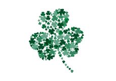 Abstract abstract Shamrock leaf vector. Sign symbol background green color vector illustration
