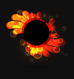 Abstract. Abtract fiery background on black. EPS10 Royalty Free Stock Photography