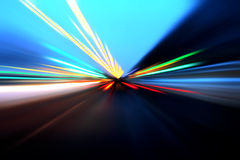 Abstract acceleration motion. On the road royalty free stock images